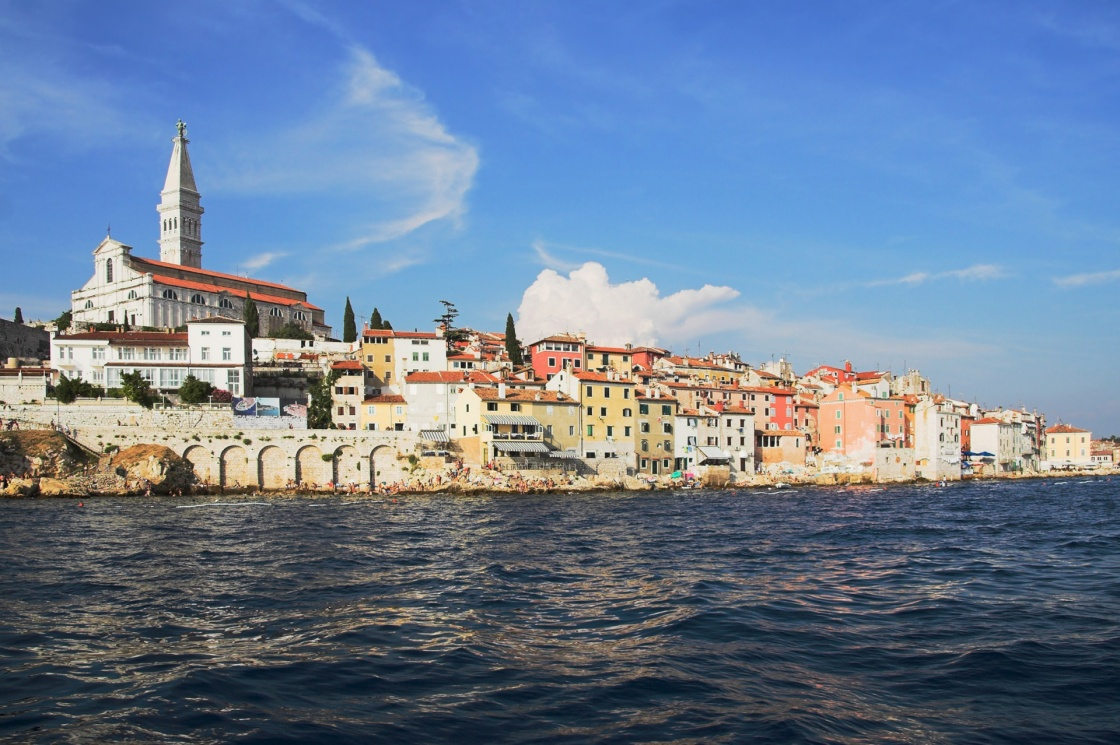 'View of the Mediterranean city from water. Rovinj. Croatia.' - Istria