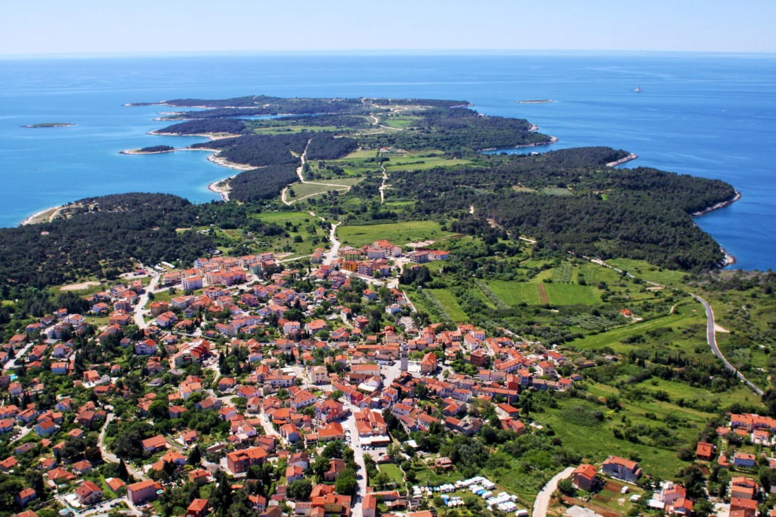 'Aerial view of half island on Cape Kamenjak, Istria, Croatia, Europe ' - Istria